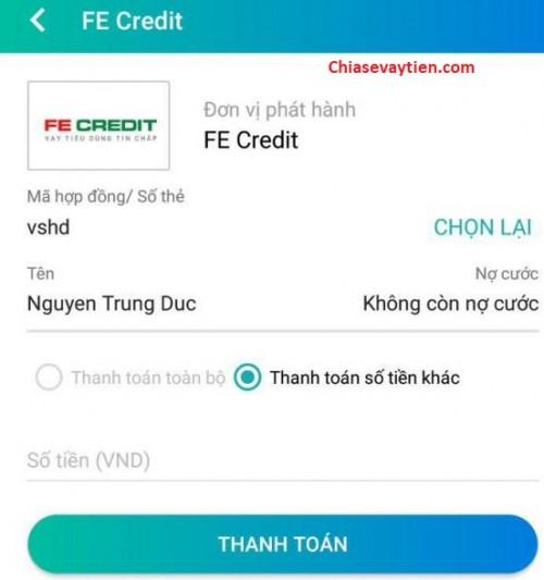 Hướng dẫn thanh toán, thanh lý hợp đồng Fe Credit qua ViettelPay mới nhất 2021