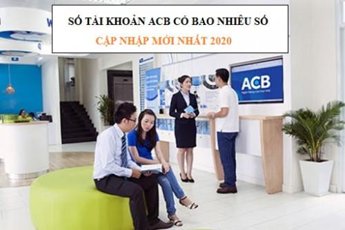 Số tài khoản ACB Bao nhiêu số | Cách tra cứu STK ACB
