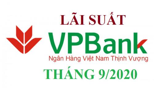 Lãi suất tiền gửi VP BANK tháng 9/2020 mới nhất