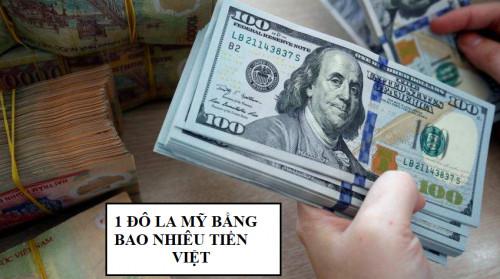 1 Đô La Mỹ (USD) bằng bao nhiêu tiền Việt (VND) mới nhất 2021