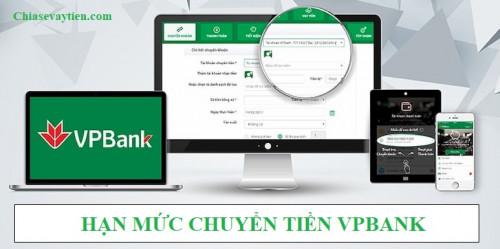 Hạn mức chuyển tiền VPBank Online mới nhất 2021