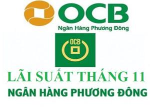 Lãi suất OCB mới nhất tháng 11/2020 : Cao nhất 6.8%/năm