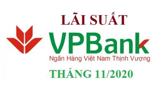 Lãi suất VPBank mới nhất tháng 11/2020