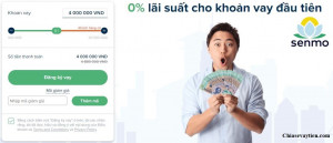 Vay tiền Online Senmo.vn : Vay nhanh 10 triệu , 0% lãi suất mới nhất 2020