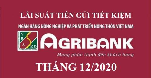 Lãi suất Agribank mới nhất tháng 12/2020
