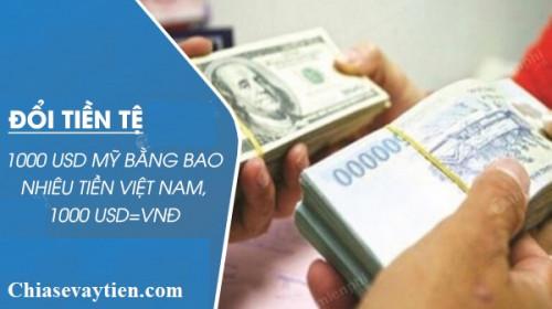 1000 Đô la Mỹ (USD) bằng bao nhiêu tiền Việt mới nhất tháng 01/2021