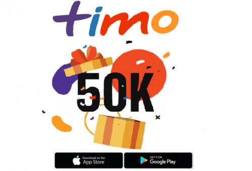 Mở tài khoản Timo Online nhận ngay 50k mới nhất 2021