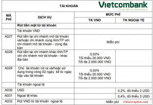 [UPDATE] Biểu phí rút tiền mặt Vietcombank mới nhất 2021