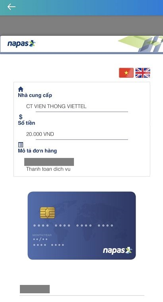 Nạp tiền vào ViettelPay qua tài khoản ngân hàng