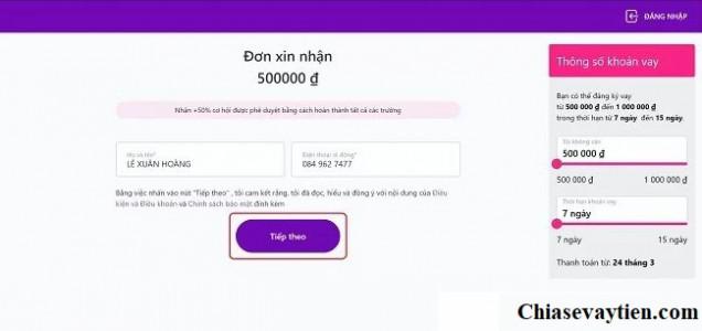 Đăng ký vay tiền Online Takomo