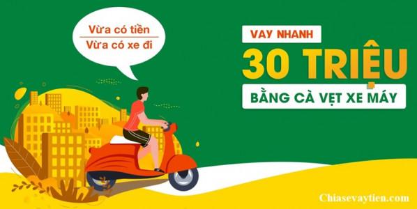 Vay tiền mặt bằng Cavet xe máy tại Hà Nội