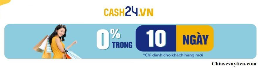 Đăng ký vay tiền Online Cash24