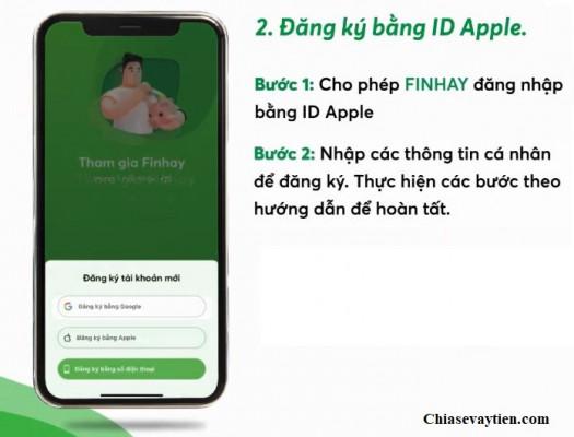 Đăng ký Finhay bằng ID Apple