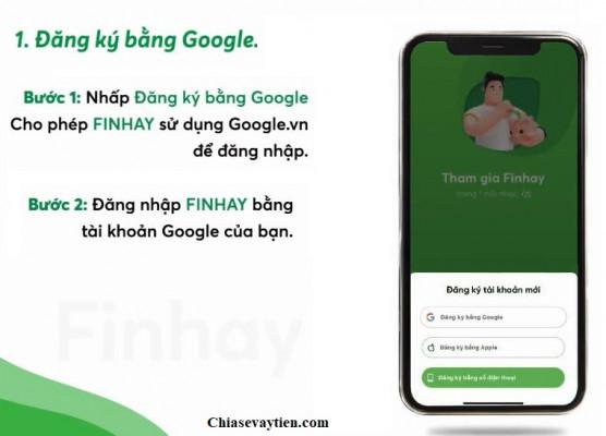 Đăng ký mở tài khoản Finhay bằng Google