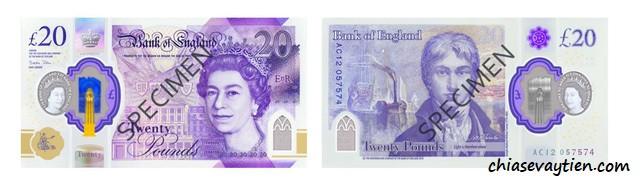 Các mệnh giá tiền Giấy của Đồng bảng Anh