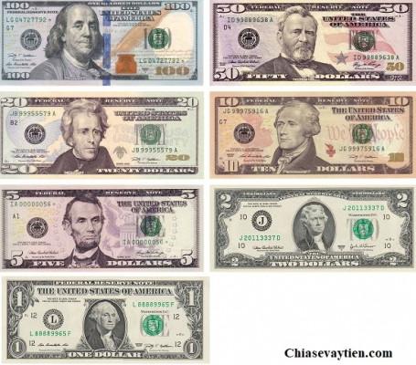 Đồng tiền Đô la Mỹ bằng giấy