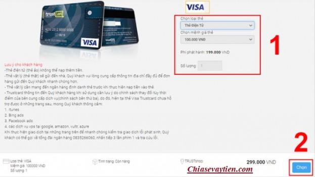 Đăng ký mở thẻ Visa ảo