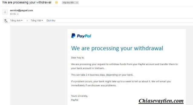 Rút tiền từ Paypal