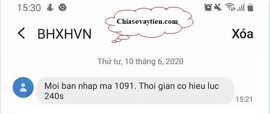 Tin nhắn SMS của BHXNVH