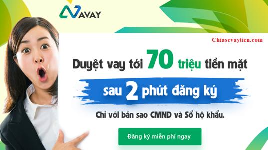 Đăng ký vay tiền nhanh Avay