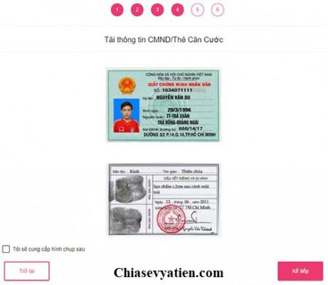 Cập nhập thông tin chứng minh nhân dân ATM Online