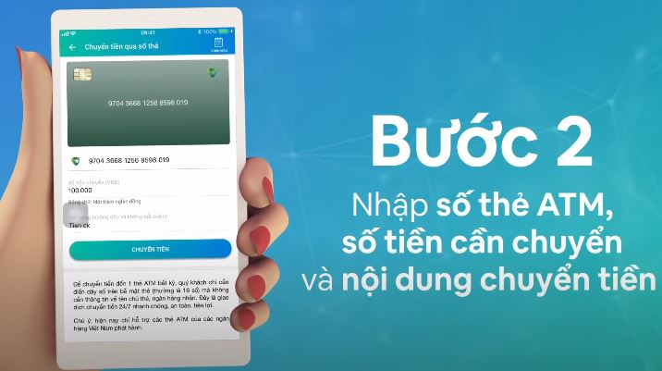 Chuyển tiền qua số thẻ ATM trên Viettelpay