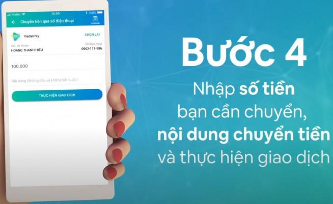 Chuyển tiền qua số điện thoại trên ViettelPay