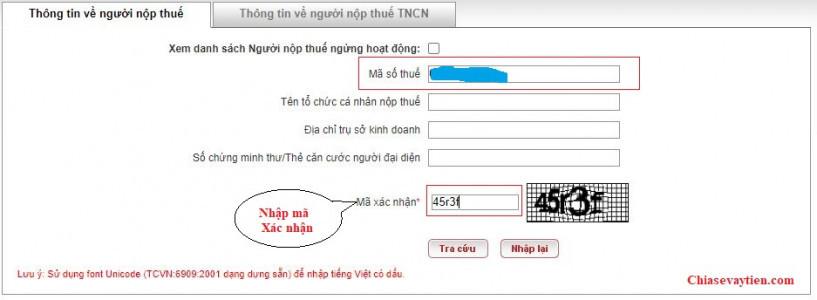 Tra cứu mã số thuế Doanh nghiệp qua Online