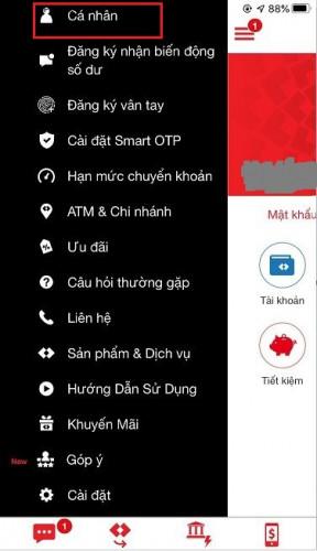 Đổi mật khẩu Internet Banking Techcombank