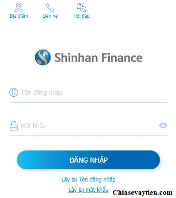 Tra cứu khoản vay Shinhan Finance Online