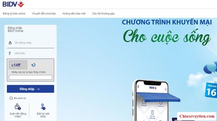 Đăng nhập Internet Banking BIDV Online