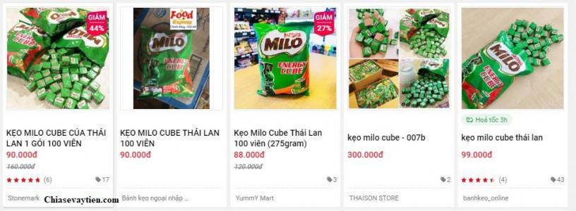 Cùng một sản phẩm nhưng nhiều giá bán khách nhau trên Sendo