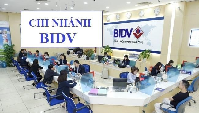 Danh sách chi nhánh và phòng giao dịch ngân hàng BIDV trên toàn quốc